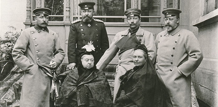 Picture: Queen Victoria with her children and her grandson Wilhelm II, historical photo