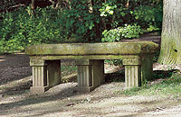 Picture: Historical stone bench