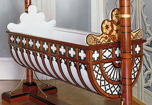 Picture: Prince Albert's cradle in the North Balcony Room